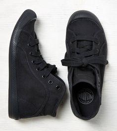 Black Palladium Canvas Boot