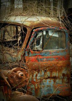 倫☜♥☞倫   Old Truck Abandoned... Peeking through the Rust    *.♡♥♡♥Love★it