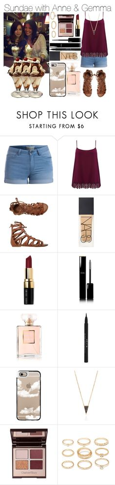 """Sundae with Anne & Gemma"" by lucybitch ❤ liked on Polyvore featuring Pieces, M&Co, O'Neill, NARS Cosmetics, Bobbi Brown Cosmetics, Chanel, Stila, Casetify, Charlotte Tilbury and Forever 21"