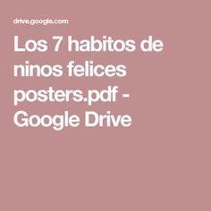 Los 7 Habitos De Ninos Felices Posters.pdf   Google Drive