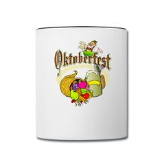 This Oktoberfest Ceramic Contrast Coffee Mug is On Sale every day of the year at PersonalizedSouvenirs.com.