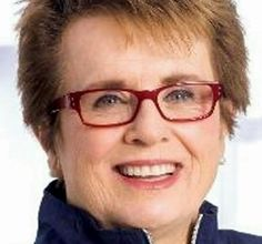 "BILLIE JEAN KING Tennis legend (Wimbledon champ 20 times) and advocate for gender equality. King's first sign of A-Fib came after playing a game of tennis with a friend. ""Got out of the taxi, and I got really dizzy and I thought I was going to black out""…""My heart was beating, I thought it was going to come out of my chest."" King was prescribed daily blood thinners and underwent a catheter ablation. Sept 2015: is promoting A-Fib Awareness Month for Janssen Pharmaceuticals. #afib Tennis Legends, Billie Jean King, Olympic Champion, Political Leaders, Track And Field, Wimbledon, Celebs, Celebrities, Taxi"