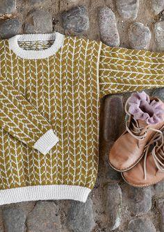 pull laine ♢ wool knit tricot tofarget genser at sandnesgarn.no - Sensible Crafting pull laine ♢ wool knit tricot tofarget genser at sandnesgarn.no - Sensible Crafting Knitting For Kids, Baby Knitting Patterns, Knitting Projects, Sock Knitting, Knitting Tutorials, Afghan Patterns, Vintage Knitting, Free Knitting, Stitch Patterns