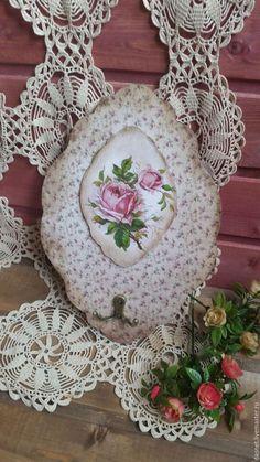 "The kitchen is handmade.  Fair Masters - handmade.  Buy Hanger-housekeeper ""Roses"".  Handmade.  Combined, kitchen interior, key hanger"