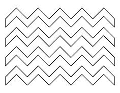 Zig zag pattern. Use the printable outline for crafts, creating stencils, scrapbooking, and more. Free PDF template to download and print at http://patternuniverse.com/download/zig-zag-pattern/