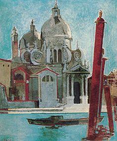 La Salute, Venice, 1955 - Françoise Gilot (b. Francoise Gilot, Venice Painting, Jean Cocteau, Georges Braque, French Artists, Pablo Picasso, Still Life, Oil On Canvas, Clip Art