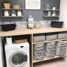 scandinavian furniture Home Deco auf In - furniture Small Laundry Rooms, Laundry Room Design, Small Bathroom, Bathrooms, Küchen Design, House Design, Diy Bedroom Decor, Diy Home Decor, Laundry Room Inspiration