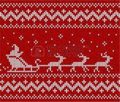 Su�ter rojo con Pap� Noel y sus ciervos patr�n transparente photo