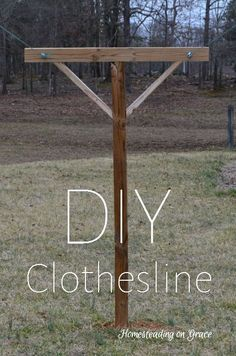 Homesteading on Grace: The Clothesline that Jeremy Built How to build and DIY your own clothesline, it's not too hard at all! If you love arts and crafts a person will really like our info! Outdoor Projects, Home Projects, Farm Projects, Outdoor Clothes Lines, Future House, Do It Yourself Furniture, Living Off The Land, Homestead Survival, Outdoor Living