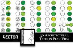30 Architectural Trees by Scrabooli Studio on @creativemarket
