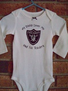NFL Oakland Raiders Graphic Onesie. Raiders Baby ClothesCool ... e5e87336d