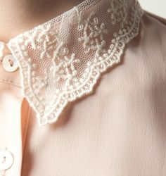 ♡ Ladylike Blush And Lace Blouse ~