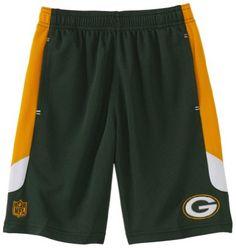Amazon.com: NFL Green Bay Packers 8-20 Boys Kick Off Mesh Short (Hunter, Large): Clothing