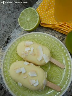 Ananász-kókusz-lime jégkrém Lime, Paleo, Keto, Honeydew, Pudding, Fruit, Food, Beach, Summer