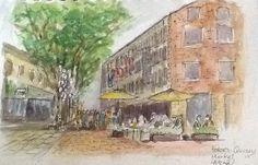 Quincy Market, Boston.  By Larry Zink