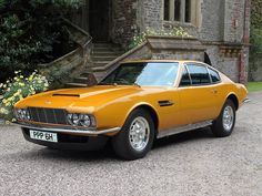 The 1970 Bahama Yellow Aston Martin DBS, driven by Sir Roger George Moore, KBE (1927-2017) as playboy character 'Lord Brett Sinclair' in the 1971-1972 action/adventure cult classic series 'The Persuaders!' was sold at Bonham's May 2014 auction, fetching a world-record £533,000. Despite its six-cylinder engine, it was done-up to resemble the latest DBS V8 model in all visual aspects, such as wheels, hubs, and badging.