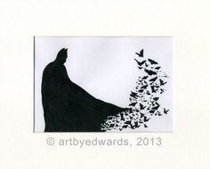 Batman  Two for 15 by ArtbyEdwards on Etsy, £10.00