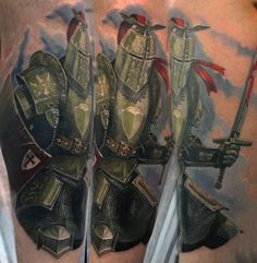 Renaissance Knight Themed Tattoos For Men