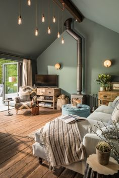 The Sanctuary Hampshire Uk Trendy Living Rooms Living Room Green Blue Living Room