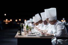 Tasting Jury at work #bocusedor #roadtolyon #focu Bocuse Dor, Chef Jackets, Europe, Table Decorations, Dinner Table Decorations