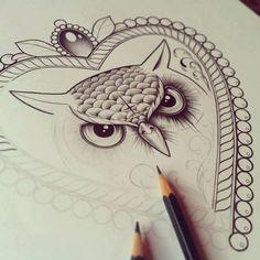 #Desenho, #Coruja, #DIVA