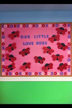 school bulletin board ideas for february - Bing images Ladybug Bulletin Boards, Toddler Bulletin Boards, February Bulletin Boards, Valentines Day Bulletin Board, Valentine's Day Crafts For Kids, Valentine Crafts For Kids, Valentine Day Crafts, Children Crafts, Birthday Crafts