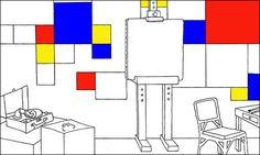 Kunstgebouw Mondrian, Art For Kids, Art Projects, Diagram, Classroom, Museum, School, Drawings, Design