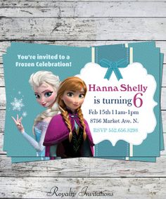 Disney Frozen Birthday Party Invitation Kids Birthday Princess