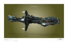 A collection of art print style posters inspired by the spaceships of Eve Online