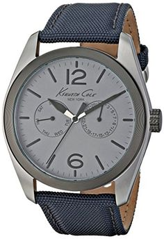 Men's Wrist Watches - Kenneth Cole New York Mens KC8065 Classic Analog Display Japanese Quartz Grey Watch * Check out this great product.