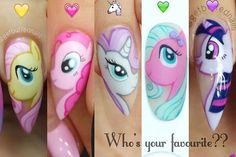 Choose your Pony alter ego?? Fluttershy Pinkie Pie Rarity Pepperpink (my own version) Twilight sparkle #getbuffednails #nails #nailart #notd #instanails #ignails #nailprodigy #acrylic #glitter #gellyfit #gelpolish from @gellyfitaustralia #nailtech #createorcredit #melbournenailart #acrylicnails #handpainted #mylittlepony #mlpnails #ggcollection