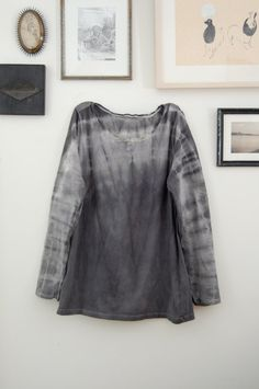 naturally dyed upcycled cotton tshirt by enhabiten on Etsy, $45.00