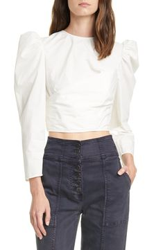 online shopping for Ulla Johnson Eden Puff Sleeve Crop Cotton Blouse from top store. See new offer for Ulla Johnson Eden Puff Sleeve Crop Cotton Blouse Three Piece Suit, Suit Fashion, Fashion Women, Ulla Johnson, Blouse Online, Cotton Blouses, Fashion Editor, Nordstrom, Clothes For Women