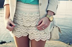 Tiered Lace- bought these shorts today!! Hot!