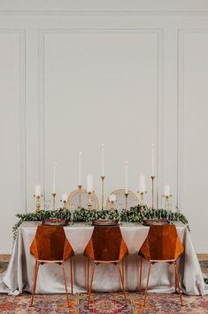 modern and romantic wedding table - photo by Kai Heeringa Photography http://ruffledblog.com/modern-romantic-wedding-ideas-with-marsala