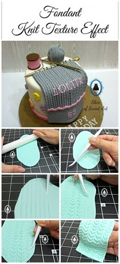 Knitting theme cake!:) By Slice of Sweet Art on FB 10/28/15