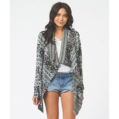 Billabong Women's Sho Me Waves Cardigan Mo-Mint Small   #FreedomOfArt  Join us, SUBMIT your Arts and start your Arts Store   https://playthemove.com/SignUp