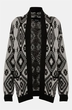 Topshop Aztec Print Knit Cardigan available at Nordstrom
