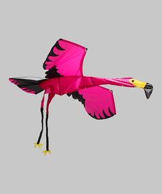 3-D Pink Flamingo Kite