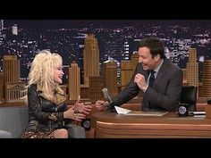 The Tonight Show Starring Jimmy Fallon: Dolly Parton, Taylor Kitsch: Dolly Parton Makes Jimmy Try on One of Her Wigs -- Jimmy talks to Dolly Parton about growing up in a big, Tennessee, mountain family. -- http://www.tvweb.com/shows/the-tonight-show-starring-jimmy-fallon/season-1/dolly-parton-taylor-kitsch--dolly-parton-makes-jimmy-try-on-one-of-her-wigs