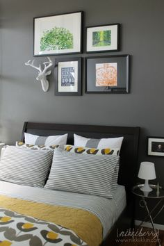 @Nikki ikkiN created a visually appealing gallery wall with the help of our Fauxidermy Deer Head.