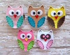Owl Felt Clip (Closed Wing)-felt, felts, baby, girls, toddlers, owl, owls, clip, clips, hair, accessory