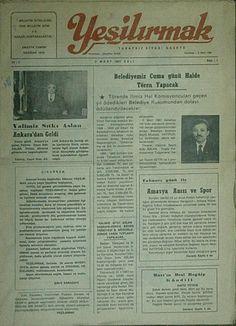 Yeşilırmak Gazetesi 1987 ilk sayı.Yıl:1, Sayı:1