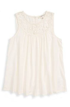 Free shipping and returns on Tucker + Tate Lacy Trapeze Tunic (Little Girls & Big Girls) at Nordstrom.com. Lacy trim and a swingy trapeze silhouette highlight a breezy tank crafted from lightweight fabric that's perfect for warm weather.