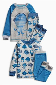 Next Multi Octopus Pyjamas Two Pack (9mths-8yrs) £19