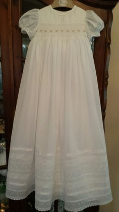 Beautiful christening robe Baptism Outfit, Christening Outfit, Baptism Dress, Lace Christening Gowns, Blessing Dress, Angel Dress, First Communion Dresses, Baby Gown, Heirloom Sewing