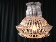 Clothes hanger chandelier by Organelle Design