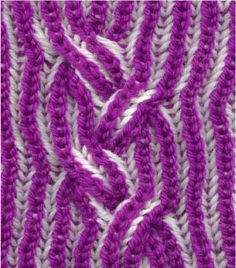 brioche braided cable, how-to