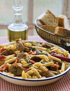 Chef Michael Smith Roasted Tomato Sausage Penne