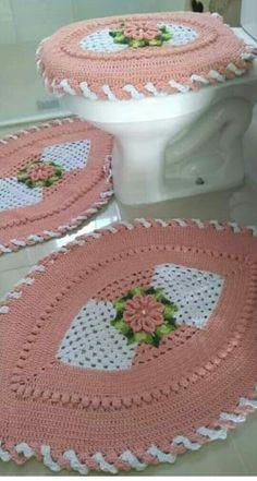 Maya, Crochet Hats, Rugs, Bathroom Mat Sets, Crochet Storage, Bedspreads, Needlepoint, Bathroom Sets, Sewing Tutorials